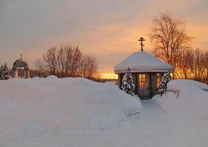 Морозное утро февраля.